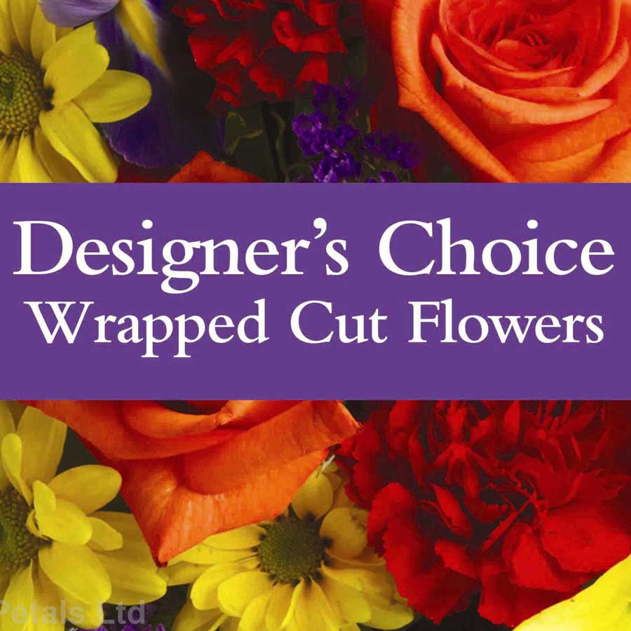 Designer`s Choice Wrapped Cut Flowers (D1)